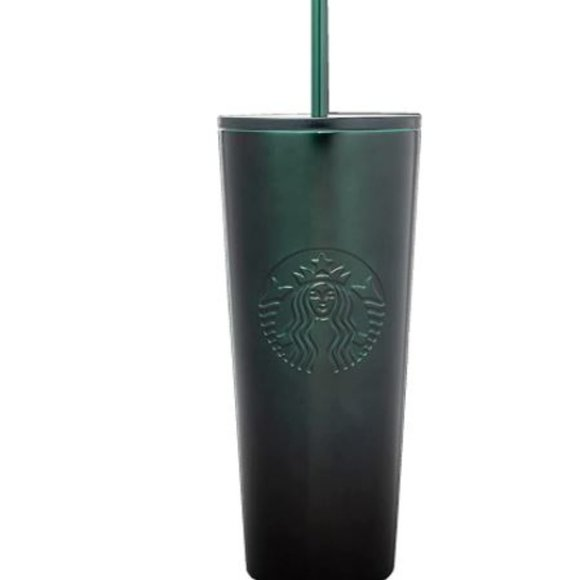 Starbucks Green Gradient Stainless-Steel Cold Cup Tumbler